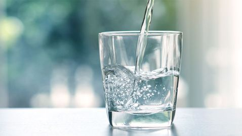 Glass of Water from our Refrigerator Filters